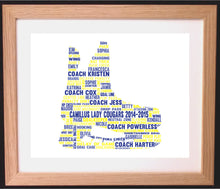 Personalised Ice Hockey Word Art Gift