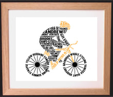 Personalised Bike / Cycling Word Art Gift