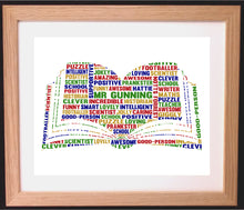 Personalised Book Word Art Gift - Ideal for Teacher Gifts or for Book Lovers / Someone who loves reading