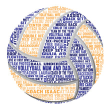 Personalised Volleyball Word Art Gift