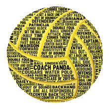 Personalised Water Polo Word Art Gift
