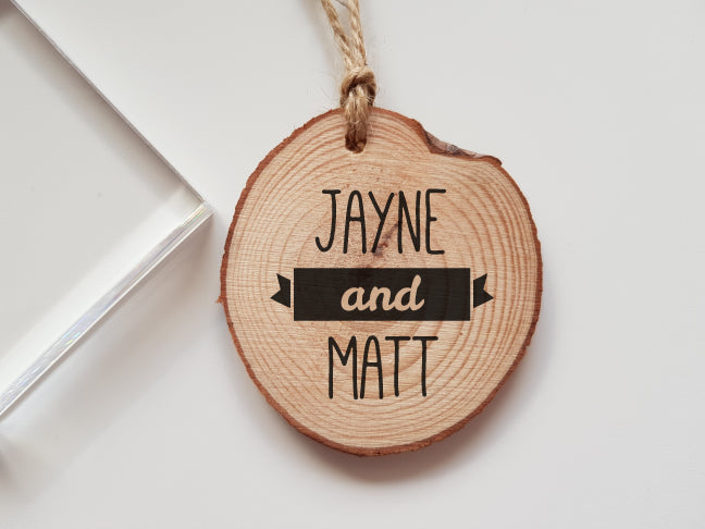Wedding Rubber Stamp with Names