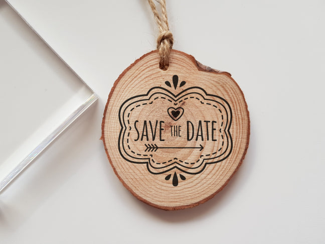 Wedding Save the Date Rubber Stamp