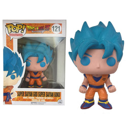 Funko POP Blue Super Saiyan God Goku Dragon Ball Z Hot Topic Exclusive #121