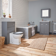 Astley 600mm Floor Standing Vanity Unit - Matt Grey - Vanity Unit