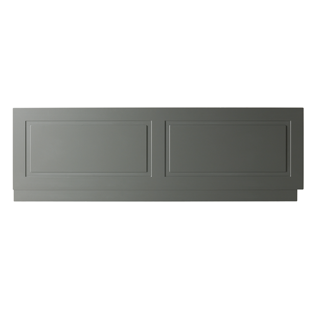 Astley Bath Front Panel - Matt Grey - Bath Panel