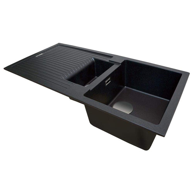 Barnes & Smith - Kitchen Sink & Drainer 1.5 - Black Quartz - Kitchen Sink