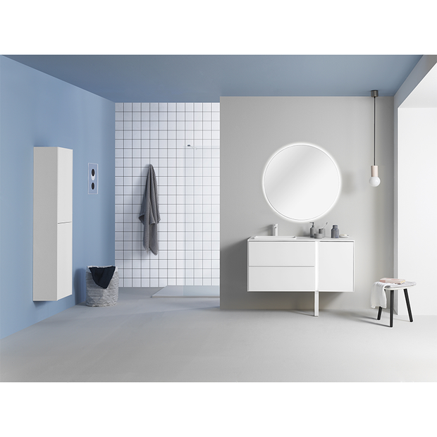 Go 900mm Bluetooth Vanity Unit with Solid Surface Basin - Matt White - Vanity Unit