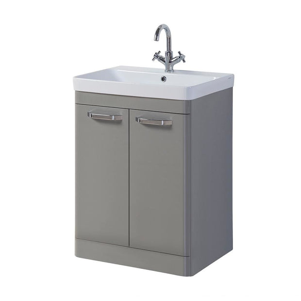 Options Floor Standing Vanity Unit - Basalt Grey - 3 Sizes - 600mm - Vanity Unit