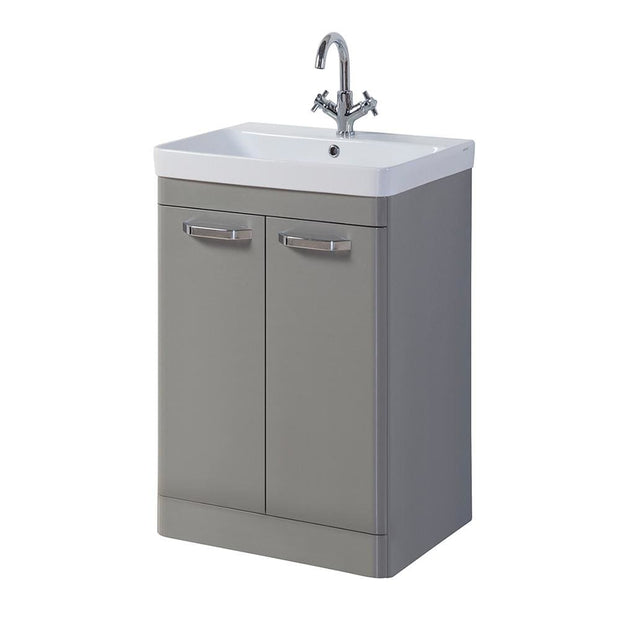 Options Floor Standing Vanity Unit - Basalt Grey - 3 Sizes - 500mm - Vanity Unit