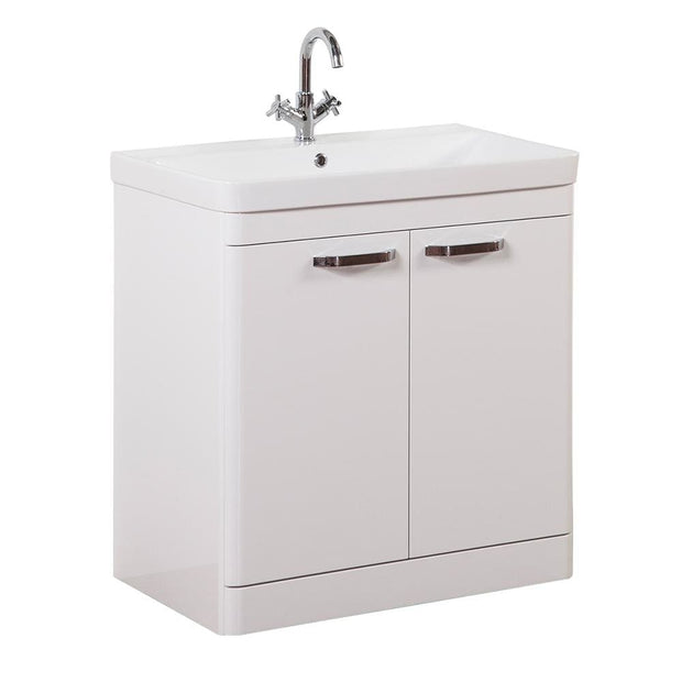 Options Floor Standing Vanity Unit - White - 3 Sizes - 800mm - Vanity Unit