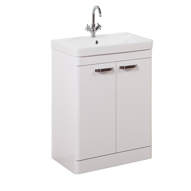 Options Floor Standing Vanity Unit - White - 3 Sizes - 500mm - Vanity Unit