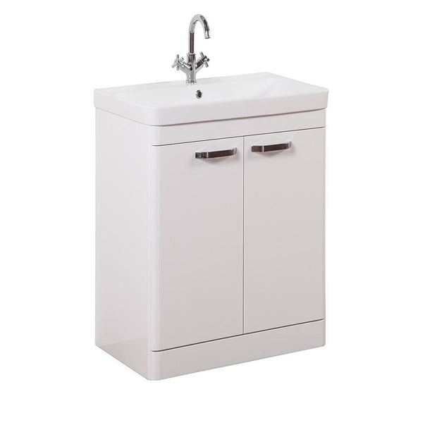 Options Floor Standing Vanity Unit - White - 3 Sizes - 600mm - Vanity Unit