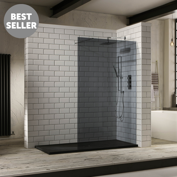 Oslo 10mm Tinted Walk-In Front Panel - Shower Enclosure