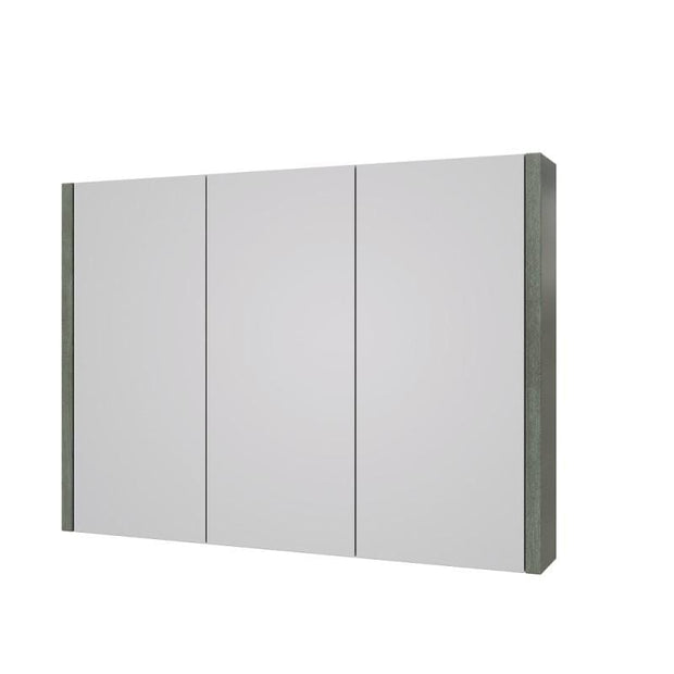 Purity 900mm Mirror Cabinet - Grey Ash - Mirrors & Cabinets