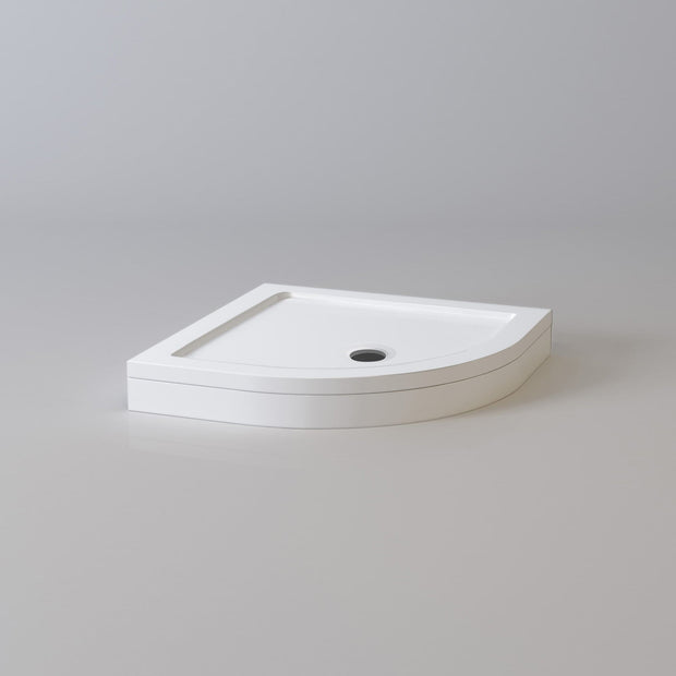 Quadrant Shower Tray & Waste - White - Shower Tray