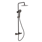 RAK Black Chrome Round Mixer Shower - Shower Kit