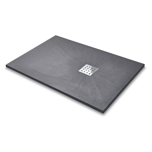 Rectangle Slate Effect Shower Tray - Graphite - Shower Tray