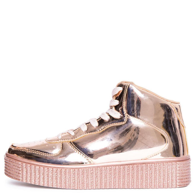 Metallic High Top Flatform Creepers