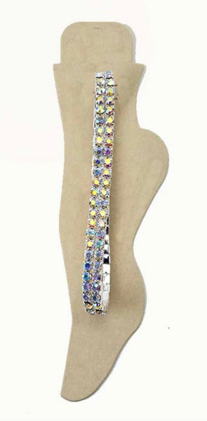 2 Lined Crystal Anklet