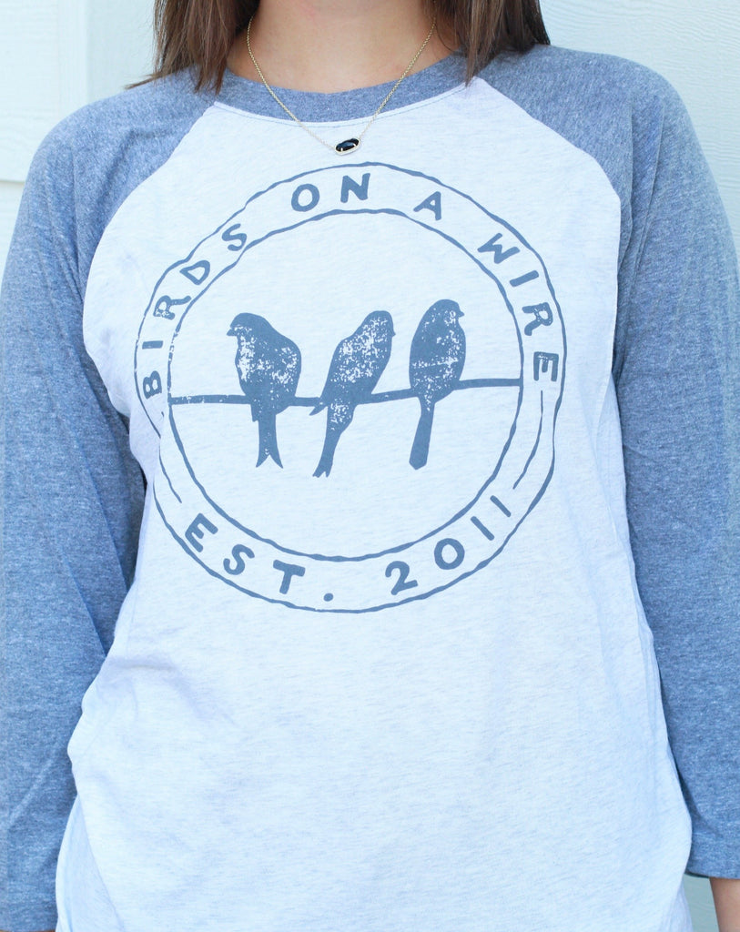 Birds on a Wire (BOAW) Baseball Jersey