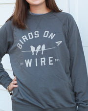 Birds on a Wire (BOAW) Thin Raglan Sweatshirt
