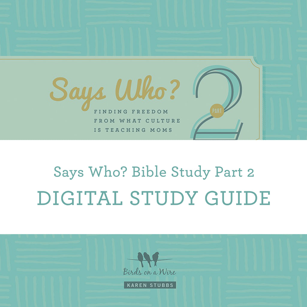 Says Who? Bible Study Part 2 | Digital Study Guide
