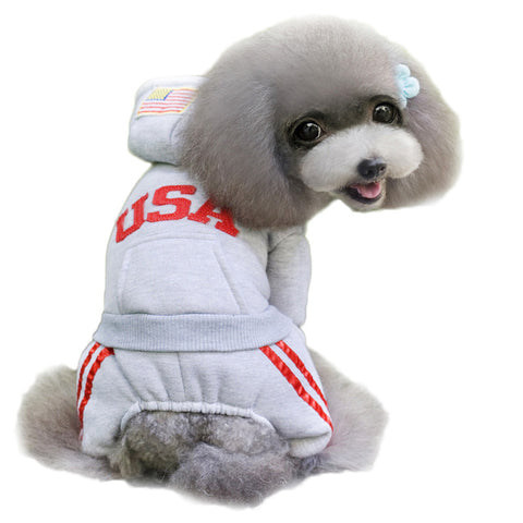 USA Sports Hoodie for Dogs