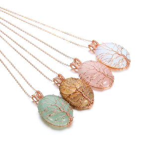 Natural Healing Crystal Chakra Stone Opal Necklaces & Pendants