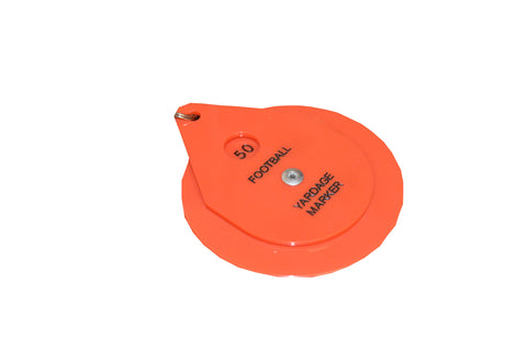 Orange Plastic Disk Chain Clip