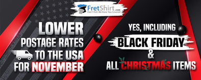 Lower USA postage rates @ Fretshirt.com