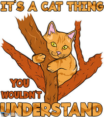 It's a Cat Thing Sitting in a Tree @ Fretshirt.com
