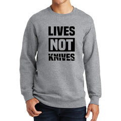 Lives Not Knives at Fretshirt.com