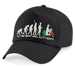 Evolution of Vespa Embroidery Cap @ Fretshirt.com