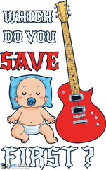 Guitar baby Save first @ Fretshirt.com