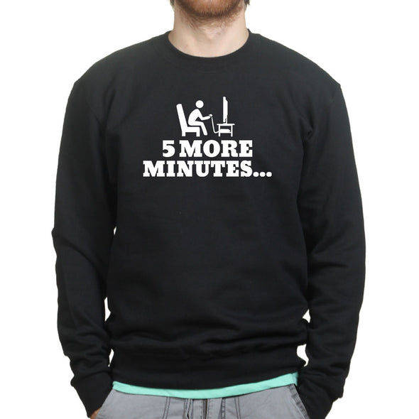 5 More Minutes Gaming Sweatshirt, [product_type) - Fretshirt.com
