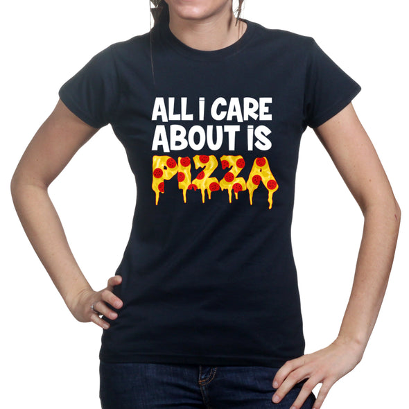 All I Care About Is Pizza Women's T-Shirt, [product_type) - Fretshirt.com