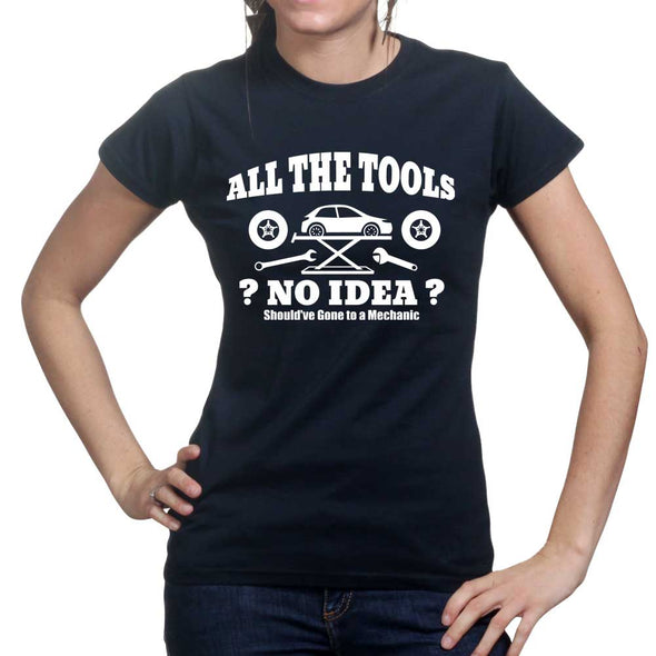 All The Tools No Idea Car Racing Women's T-Shirt, [product_type) - Fretshirt.com