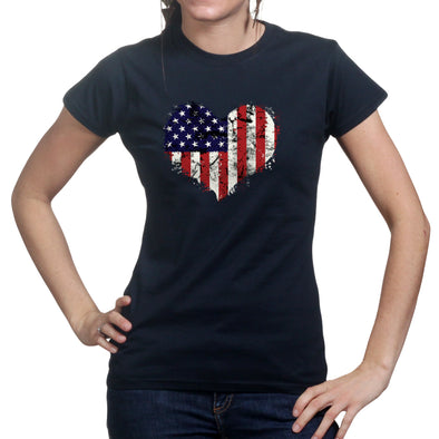 American Heart Flag Women's T-Shirt, [product_type) - Fretshirt.com