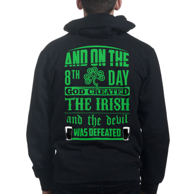 And On The 8th Day God Created The Irish Hoodie