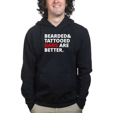 Bearded and Tattooed Dad Hoodie