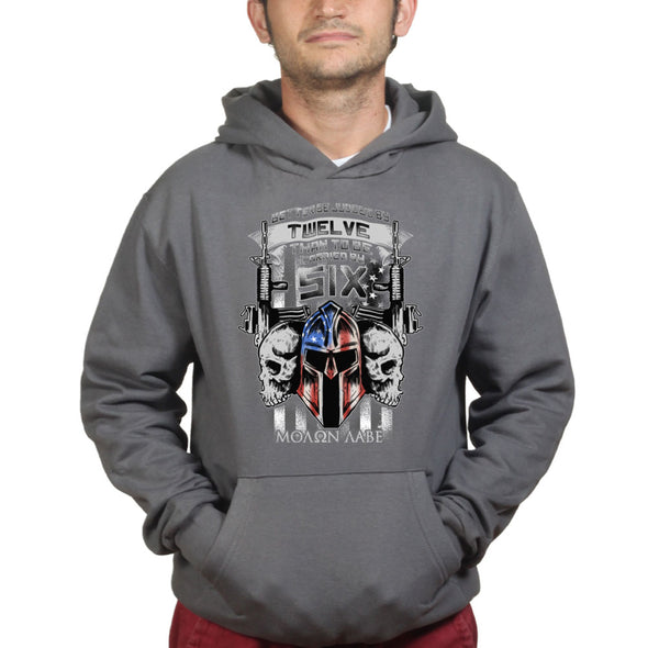 Better Judged by 12 American Spartan Molon Labe Hoodie