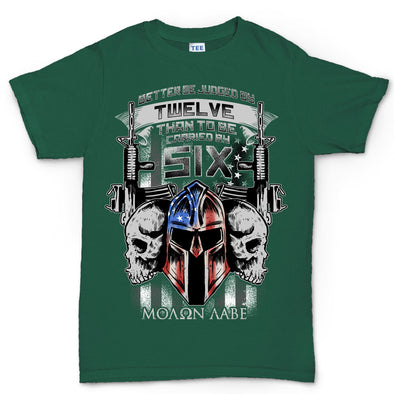 Better Judged by 12 American Spartan Molon Labe Kid's T-Shirt