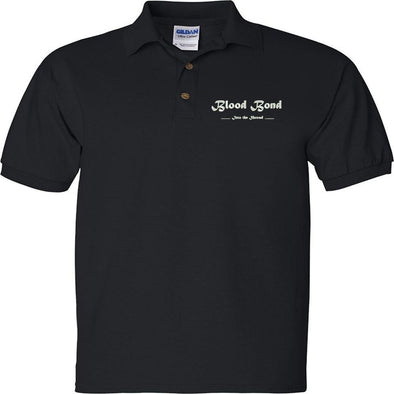 Blood Bond - Into the Shroud Embroidered Polo Shirt, [product_type) - Fretshirt.com
