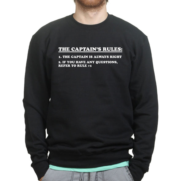 Captain Rules Sailing Sweatshirt - Fretshirt.com
