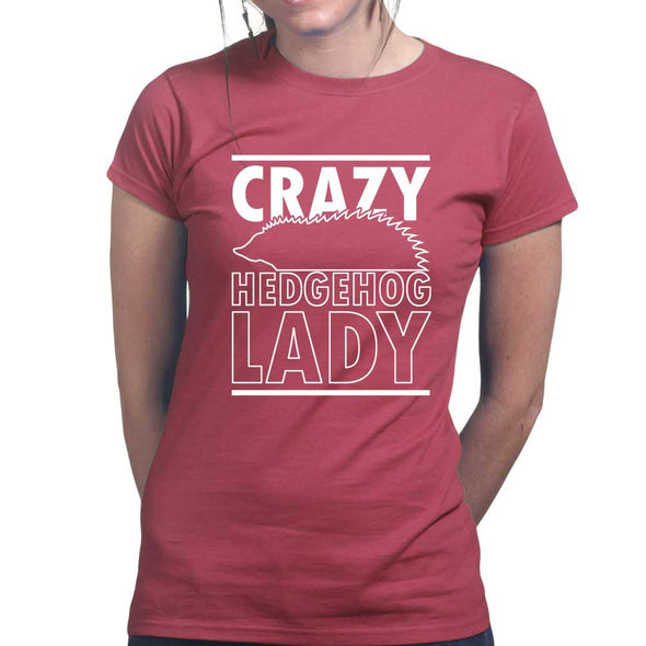 Crazy Hedgehog Lady Women's T-Shirt - Fretshirt.com