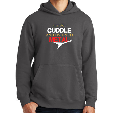 Cuddle And Listen To Metal Hard Rock Romantic Hoodie