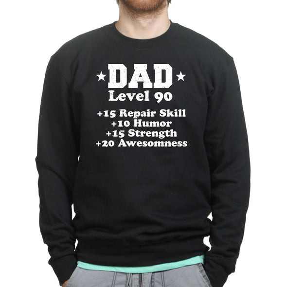 Dad Awesome Level Sweatshirt - Fretshirt.com