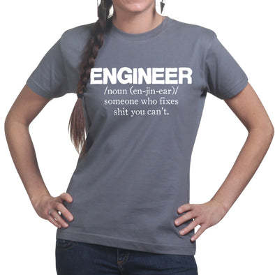 Engineer Who Fixes Women's T-Shirt