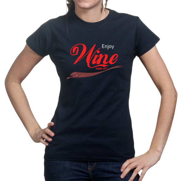 Enjoy Wine Coca Cola Women's T-Shirt - Fretshirt.com